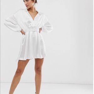 ASOS Satin Mini Dress w/ Belt